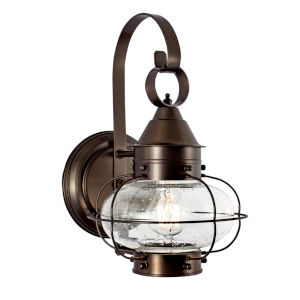 Cottage Onion Bronze Eight-Inch One-Light Outdoor Wall Sconce