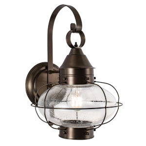 Cottage Onion Bronze 11-Inch One-Light Outdoor Wall Sconce