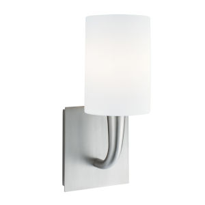Trumpet Brushed Nickel Five-Inch One-Light Wall Sconce