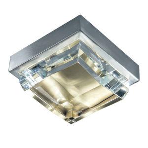 Crystal Brushed Nickel and Satin Brass LED Flush Mount