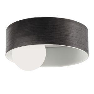 Centric Grained Grey LED Flush Mount