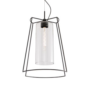 Cere Matte Black One-Light 14-Inch Pendant