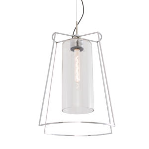 Cere Polished Nickel One-Light 14-Inch Pendant