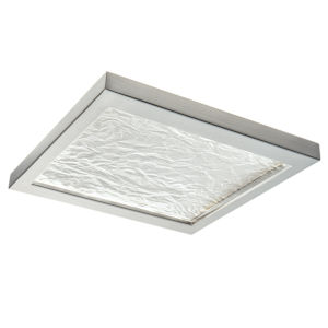 For-Square Brushed Nickel 12-Inch LED Flush Mount
