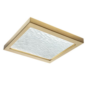 For-Square Satin Brass 12-Inch LED Flush Mount