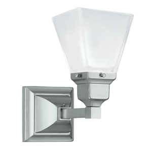 Birmingham Brushed Nickel One-Light Bath Sconce