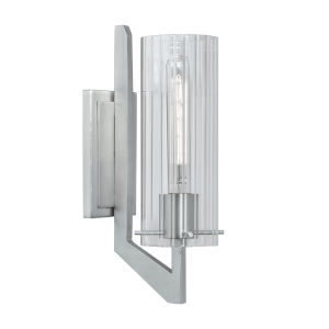 Faceted Brushed Nickel One-Light Wall Sconce