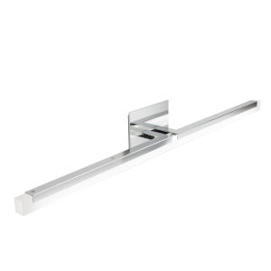 Double L Chrome One-Light 26-Inch Wall Sconce