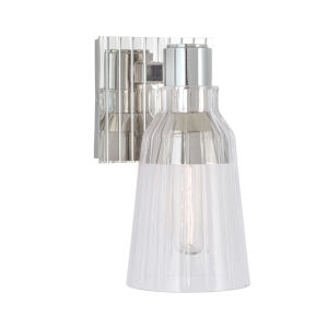 Carnival Polished Nickel One-Light 9-Inch Wall Sconce