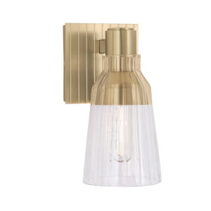 Carnival Satin Brass One-Light 9-Inch Wall Sconce