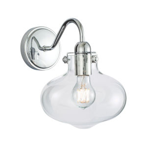 Clara Chrome Eight-Inch One-Light Wall Sconce