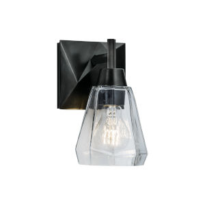 Arctic Acid Dipped Black One-Light Wall Sconce