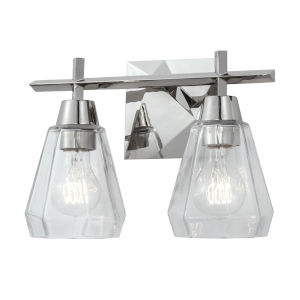 Arctic Polished Nickel Two-Light Wall Sconce
