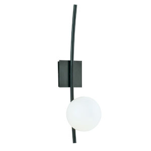 Perch Acid Dipped Black One-Light Wall Sconce