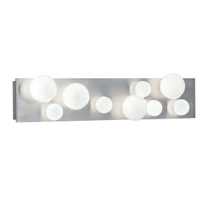 Hollywood Brushed Nickel Nine-Light Wall Sconce