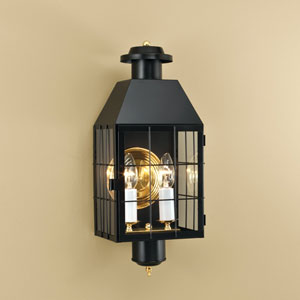 American Heritage Black Wall Mounted Outdoor Light