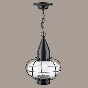 Classic Onion Black Single Light Outdoor Medium Hanger