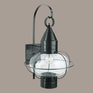 Classic Onion Gun Metal Single Light Outdoor Large Wall Mount
