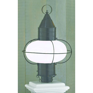 Classic Onion Bronze Single Light Outdoor Large Post Mount