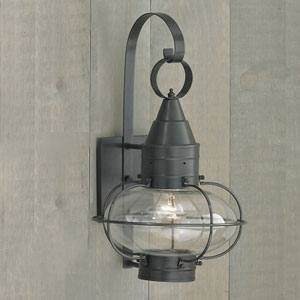 Classic Onion Gun Metal Single Light Outdoor Large Post Mount