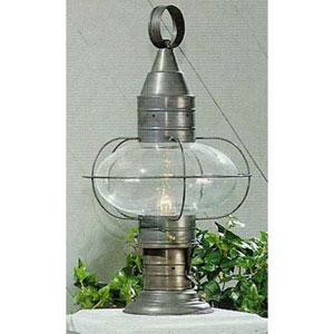 Classic Onion Gun Metal Single Light Outdoor Medium Post Mount