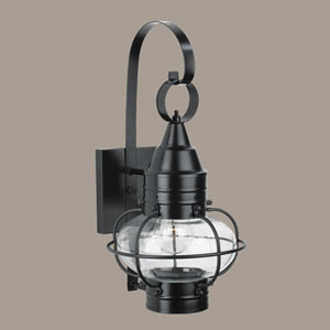 Classic Onion Black Single Light Outdoor Small Wall Mount