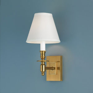 Weston Aged Brass Single Light Wall Sconce