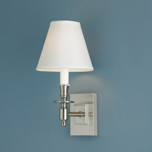 Weston Brushed Nickel Single Light Wall Sconce