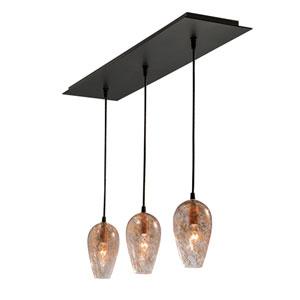 Nico Matte Black Three-Light Multi-Light Mini Pendant