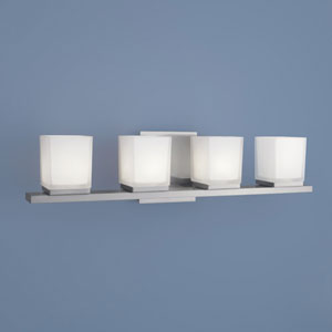 Icereto Brushed Nickel Four Light Wall Sconce