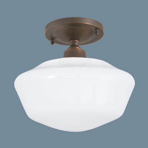 Schoolhouse Oil Rubbed Bronze Single Light Flush Mount