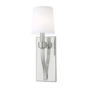 Roule Brushed Nickel One-Light Wall Sconce