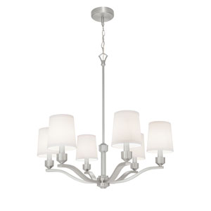 Roule Brushed Nickel Six-Light Chandelier