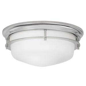 Gallery Polished Nickel Two-Light Flush Mount