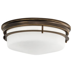 Gallery Burnished Bronze Three-Light Flush Mount