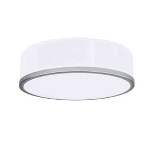 Meridian Chrome 12-Inch LED Flush Mount