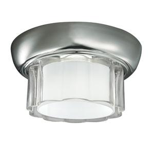 Carousel Polished Nickel One-Light Flush Mount