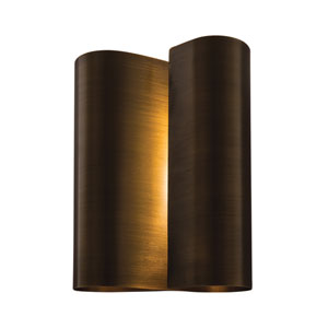 Curl Brushed Pewter Two-Light Wall Sconce