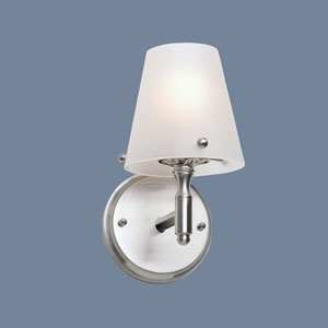 Arlington Brushed Nickel Single Light Wall Sconce