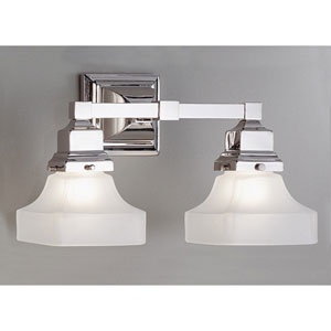 Birmingham Brushed Nickel Two Light Wall Sconce