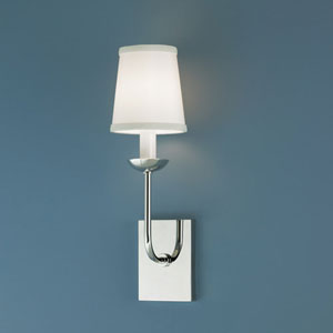 Circa Polished Nickel Single Light Wall Sconce