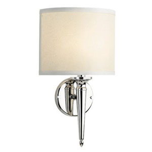 Georgetown Polished Nickel Single Light Wall Sconce