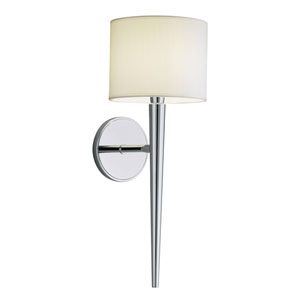 Angelica Polished Nickel One-Light Bath Sconce