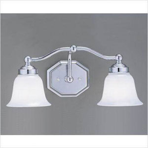 Trevi Brushed Nickel Two Light Wall Sconce