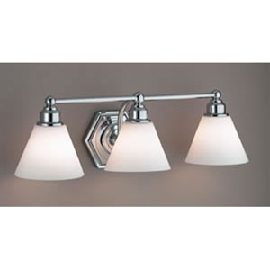 Jenna Brushed Nickel Three Light Wall Sconce