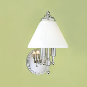 Lenxo Polished Nickel Two Light Wall Sconce