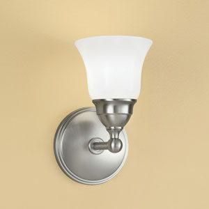 Sophie Brushed Nickel Single Light Wall Sconce