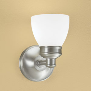 Spencer Brushed Nickel Single Light Wall Sconce
