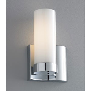 Wave Brushed Nickel Single Light Right Side Wall Sconce