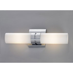 Wave Brushed Nickel Two Light Double Horizontal Wall Sconce